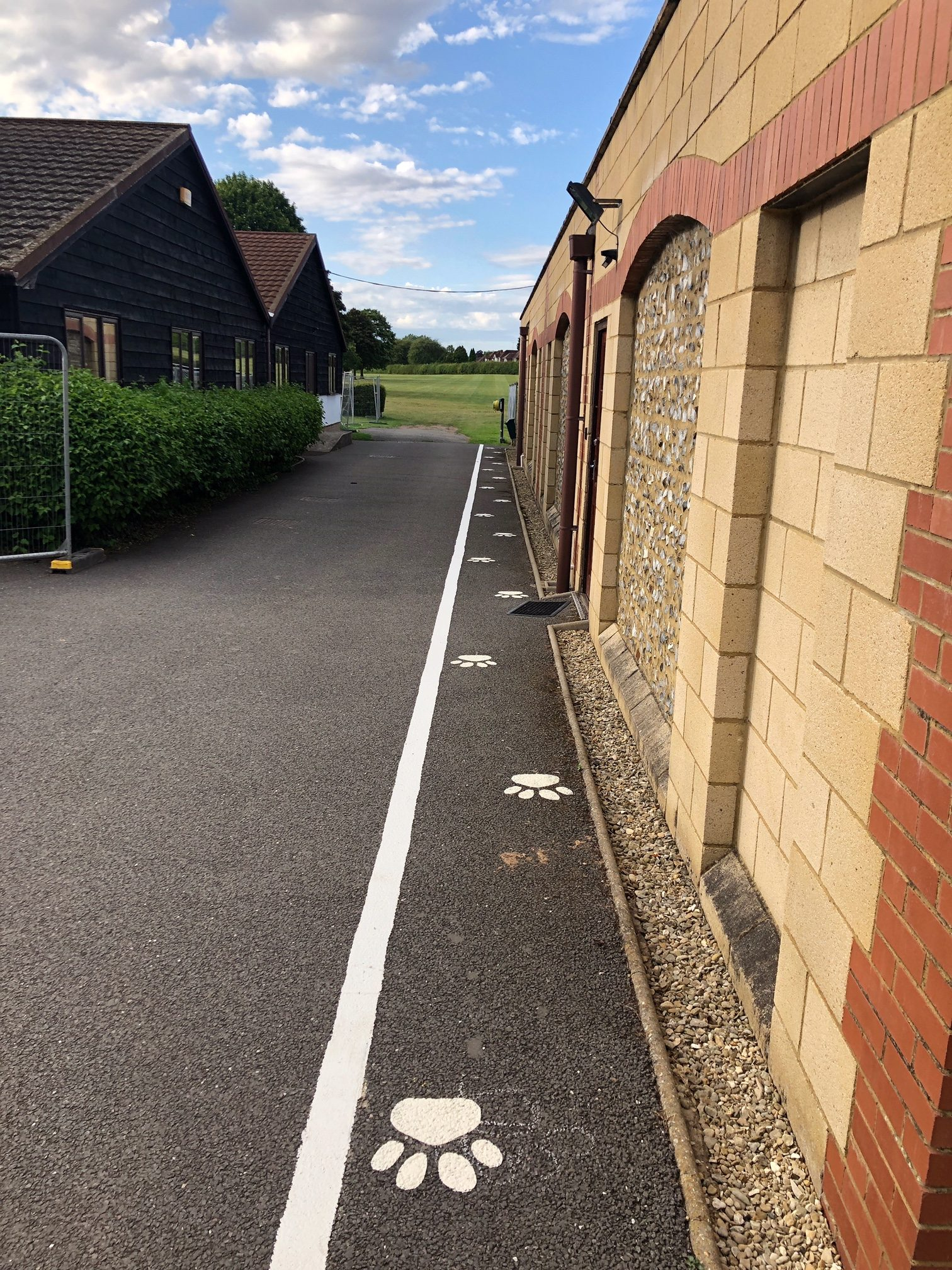 External Line Marking at Hearing Dogs for Deaf People – Case Study